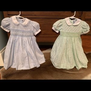 CARRIAGE BOUTIQUE SMOCKED DRESSES 24 MONTHS